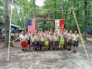 Troop 19 at Summer Camp