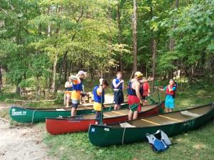 Troop 19 canoeing merit badge dry land instruction