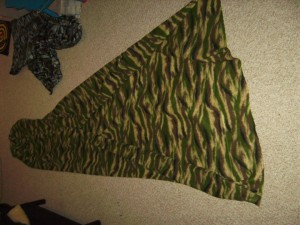 homemade hammock top quilt / bag liner