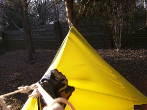 How to make an easy DIY camping hammock tarp: MYOG