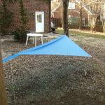 DIY Asymetrical hammock camping tarp: MYOG