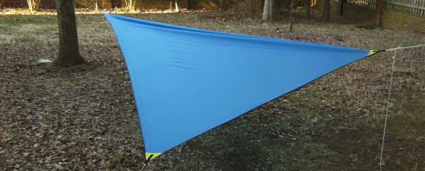 This is an easy DIY hammock camping tarp with no seams. Super project for Scouts & DIYers looking for an ultra light tarp for moderate weather conditions.