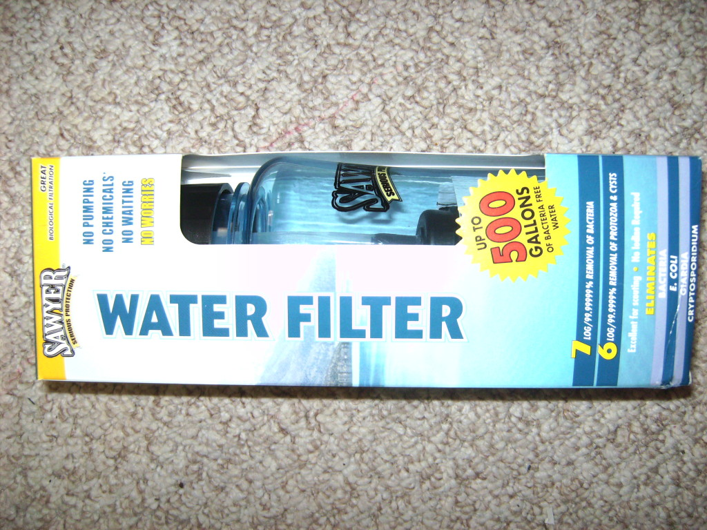 How to make a DIY gravity water filter for camping: MYOG