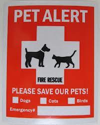 Pet alert window sticker