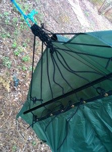 Lawson Hammock Blue Ridge Camping Hammock Review tarp attached bottom