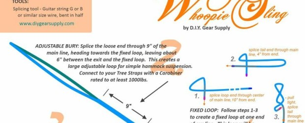 How to make Camping Hammock Whoopie Slings – adjustable hammock suspension DIY, MYOG Getting the maximum comfort from a hammock requires hanging each end at the correct angle.The easiest way […]