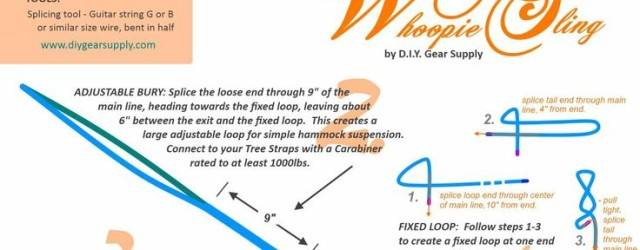 Getting the maximum comfort from a hammock requires hanging each end at the correct angle. The easiest way to hang a hammock is with adjustable suspension, like easy to make whoopie […]
