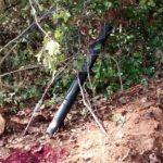 """DIY PVC deer feeder 4"""" sewer pipe in field"""