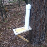 Cheap easy DIY deer feeder with screen at bottom