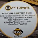 muzzle loader deer rifle CVA - spec sticker