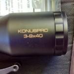 muzzle loader deer rifle CVA - konus pro 3-9x40 scope