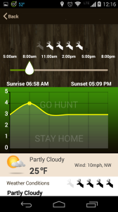 best free smartphone apps for hunting - Hunt Predictor 1