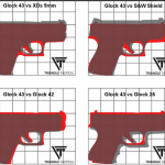 Glock 43 single stack 9mm pocket pistol size comparison