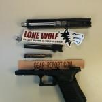 Lone Wolf Distributors Glock barrel upgrade LWD barrel installed + thread protector