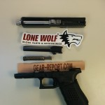 Lone Wolf Distributors Glock barrel upgrade LWD barrel installed + thread protector installed