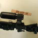 Top view of Lucid 2-5 magnifier on swing out mount - to side