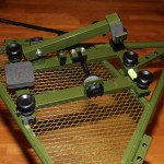 Hyskore Track and Elevate shooting rest on Hyskore Ten Ring Portable shooting bench 1