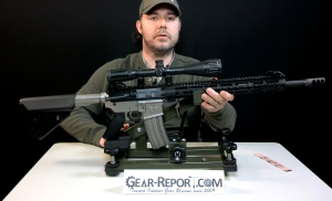 Hyskore Track and Elevate shooting rest with WMD Guns Beast AR15