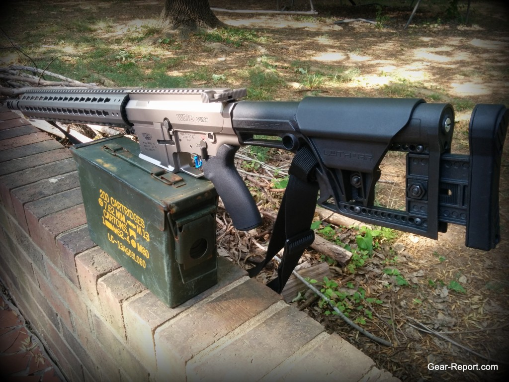Hiperfire Hipertouch TH24 tarheel 24 trigger upgrade - in the WMD Guns Big Beast AR10 .308 on the wall with ammo 1