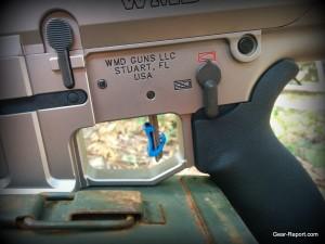 Hiperfire Hipertouch TH24 tarheel 24 trigger upgrade - Carolina Blue Hipershoe detail