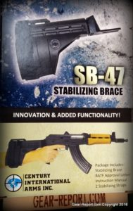 Century PAP M92 PV Pistol SB-47 stabilizing brace box