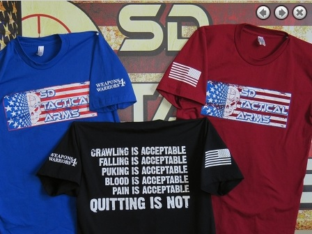 SD Tactical Arms Weapons4Warriors shirts