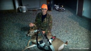Jeff took this mid sized white tail buck with the WMD Guns WMD-10