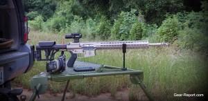 WMDguns Big Beast .308 AR10 first shots on Hyskore Ten Ring portable shooting bench