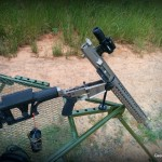 WMDguns Big Beast .308 AR10 first shots  open on Hyskore Ten Ring portable shooting bench