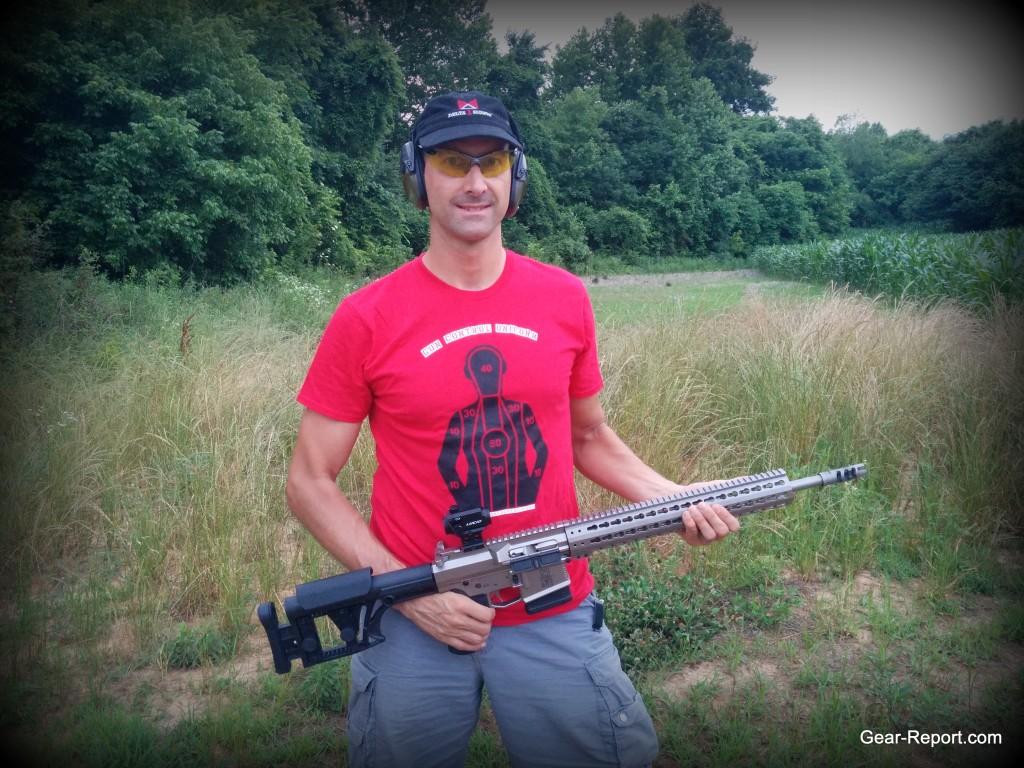 WMD0guns Big Beast .308 AR10 first shots Jeff pose