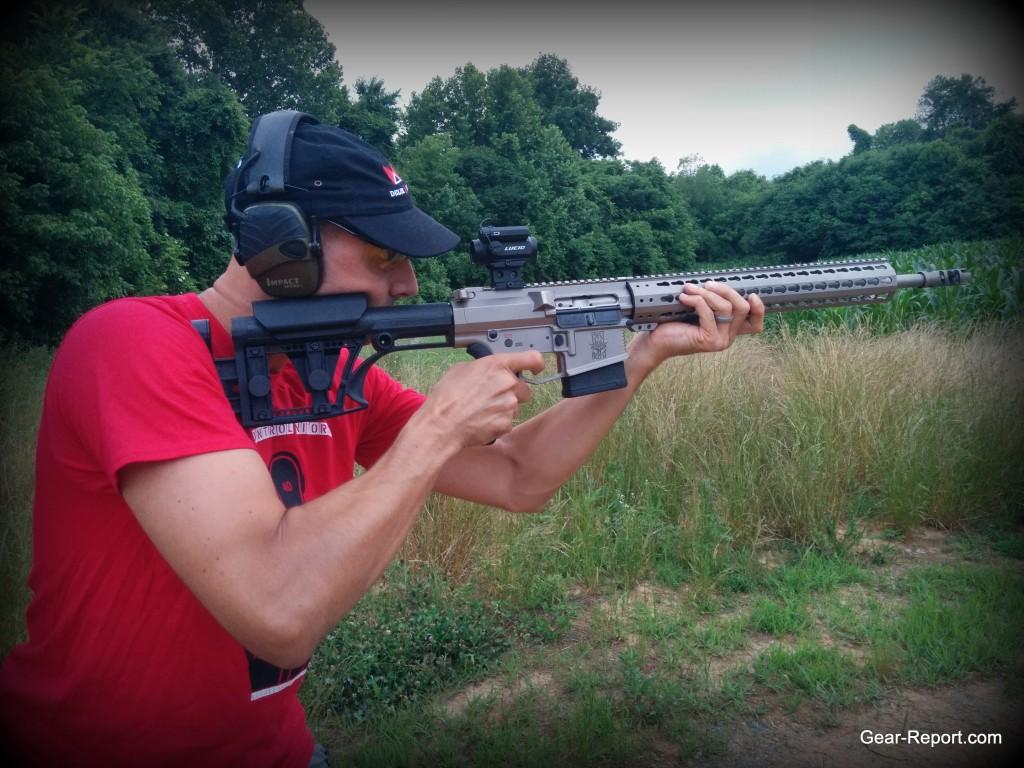 WMDguns Big Beast .308 AR10 first shots Jeff standing