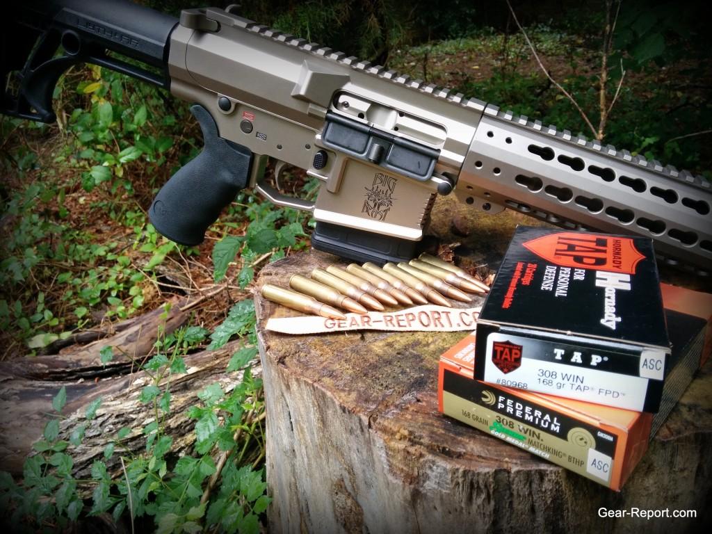 WMDguns Big Beast .308 AR10 stills side with amo row