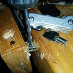 key-bar key organizer - drilling key holes