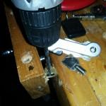 key-bar key organizer - drilling key holes 1