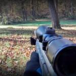 CVA Optima V2 muzzle loader black powder rifle sighting