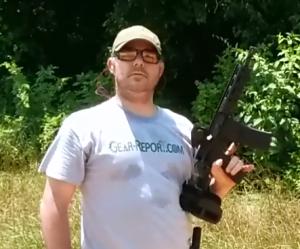 Josejuan shooting AR pistol with Strike Industries AR Enhanced Pistol Grip