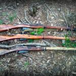 Hunting rifles Mosin Nagant Russian and Finnish