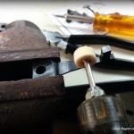 polishing Mosin sear spring