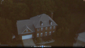 SYMA x5C quadcopter drone in low light and really high up