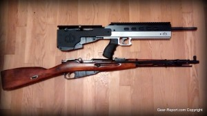 Mosin Nagant Bullpup conversion kit cbrps.com compared to Mosin rifle