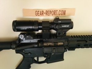Lucid M7 with Lucid 2-5x magnifier on ADM swing out mount - magnifier deployed 2