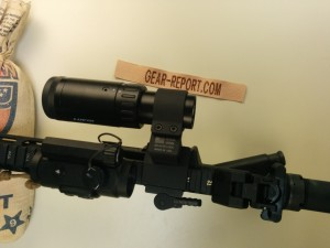 Lucid M7 with Lucid 2-5x magnifier on ADM swing out mount