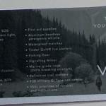 VSSL Supplies survival kit box contents