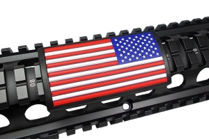 how to jihadi proof your ar - custom bacon keymod rail cover for ar15 rifles - american flag