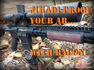 how to jihadi proof your ar - custom bacon keymod rail cover for ar15