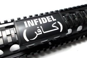 how to jihadi proof your ar - custom bacon keymod rail cover for ar15 rifles - infidel