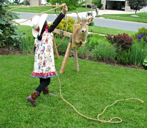 girl lasso a deer - why we hunt deer