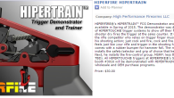 In the video below Terry at Hiperfire surprises us with some new product announcements that expand the Hiperfire brand from just triggers, to also include the HiperTrain trigger demonstrator, the HiperGrip […]