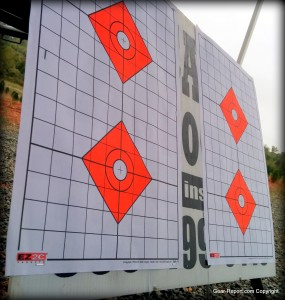 EZ2C shooting targets review - rifle targets on sign