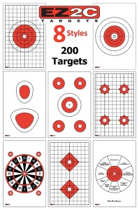 EZ2C shooting targets review - 8 styles of targets